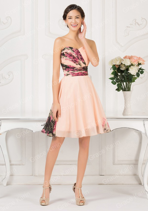 e0fc9010be8 Product Description  New Sexy Women Floral Print dress Runway Vintage Party  Gown Short Pattern Evening Prom ...