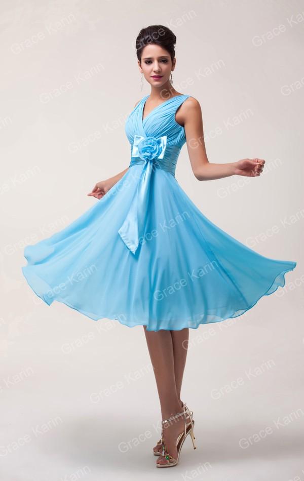 Latest Design Stock Deep V-Neck Chiffon Prom short Dress Formal ... 8143f6d066ee