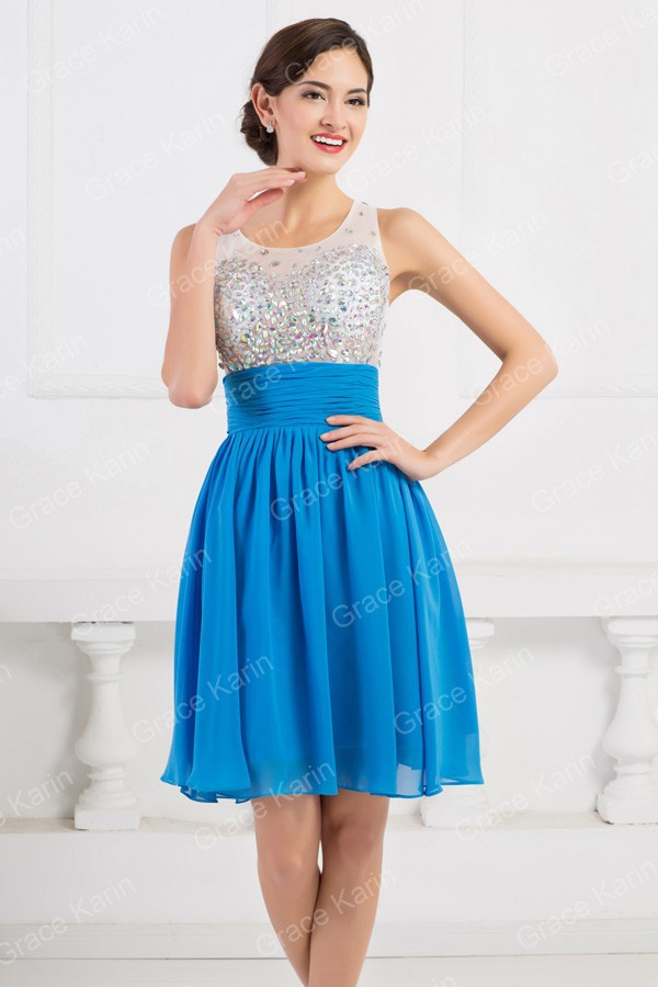 Reference Imagines A Line Knee Length Summer Ball dress Beading High ... 9914a9f4a