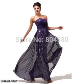 Womens Ladies A-Line Off Shoulder Sequins Evening dresses Sexy Long Dresses costume Party Formal Prom Gown CL6005