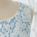 Elegant Jewel Neck Sleeveless Lace Splicing A-Line Dress For Women