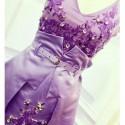 Vintage V-Neck Sleeveless Rhinestoned Irregular Hem Dress For Women
