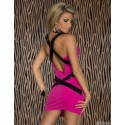Fashion Bandage Dress Women Sexy Criss Crose Sequined Back Bodycon Mini Party Dress 9042