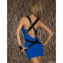 Fashion Bandage Dress Women Sexy Criss Crose Sequined Back Bodycon Mini Party Dress 9042