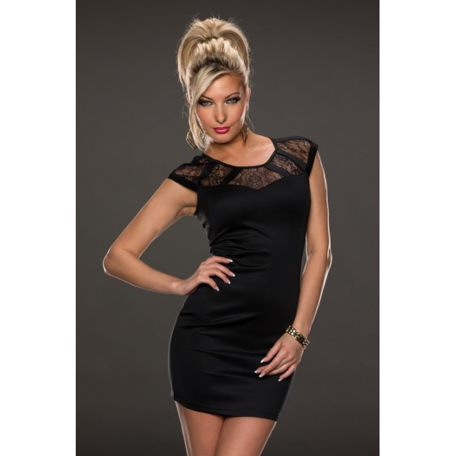 Fashion Black Lace Sexy Slimming Bodycon Bandage Dress Short Sleeve Summer Mini Evening Women Girl Club Dress 9096