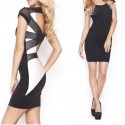 Fashion Summer Dress Women Clothing Criss Cross Back Bodycon Casual Dress 9103