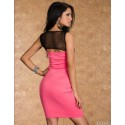 Fashion Women Sexy Sleeveless Knee Length Long Bodycon Bandage Dress Sexy Party Dress 8575