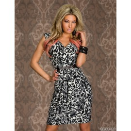 Fashion Women Sexy Vintage Animal Leopard Print Dress Summer Sleeveless Casual Dress 9048