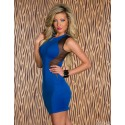 Fashion Women Summer Tank Lace Patchwork Bodycon Bondge dress Mini Blue Casual Dress 8573