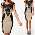 Vestidos De Festa Embroidery PU Leather Bodycon Bandage Dress Women Work Wear Sexy Mini Evening Party Dress 9039