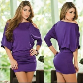 Vestidos De Festa Women's Clothing Sexy Off The Shoulder Ruched Mini Dress Bodycon Bandage Club Dress 8523