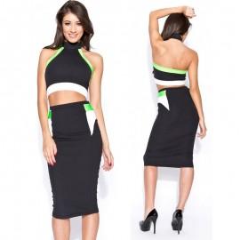 Vestidos Femininos Women Sexy Plus Size Knee Length Bodycon Midi Pencil Dress Summer Casual Dress 9051