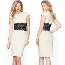 Vestidos Women Summer Casual Dress OL Office Dress Work Wear Elegant Knee Length Bodycon Midi Pencil Dress 9020