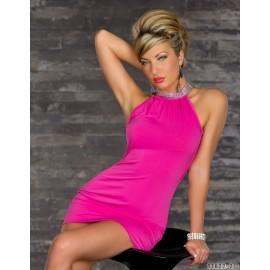 4 Colors   Fashion Women Sexy Halter Sleeveless Club Mini Dress Bodycon Bandage Dress Party Dress N084
