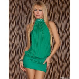 6 Colors   Fashion Women Sexy Halter Mini Dress Lady's Popular Casual Dress 4109