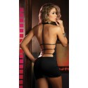 Fashion Women Sexy Black Mini Clubwear Party Dress 8502