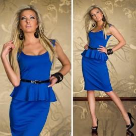 M L XL Plus Size   European Fashion Women OL Work Peplum Bandage Dress Sexy Evening Club Party Dress with Belt N125