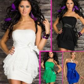 M XXL Plus Size   Fashion Women Sexy Strapless Full Lace Bodycon Summer Mini Casual Dress N111