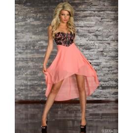 Plus Size   Fashion Women Strapless Irregular Chiffon Dress Sexy Party Dresses Irregular Casual Elegant Desigual 9028