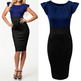 Summer Dress   Women Elegant Knee Length Brief Bodycon Midi Dress OL Pencil Dress Women Work Wear Office Dress 9075-1