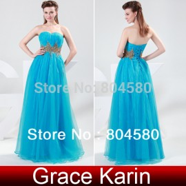 Grace karin Floor-Length Long Chiffon Evening dresses Formal Prom Party Gown CL4428