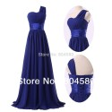 Grace Karin A-Line Stock One Shoulder Chiffon Prom Gown Formal Party Dresses Women Evening Dress Long CL6022
