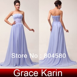 elegant off-shoulder waist beads cheap stock long evening dress Floor Length Women Celebrity Prom Gown CL6011