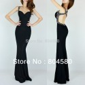 Fashion Women Slim-line Backless Bandage Dress Sexy Wedding party Dresses Long Evening prom Gowns CL6080