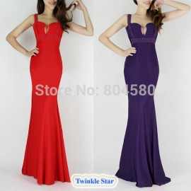 Spring  Fashion Women Sexy Floor Length Party Bodycon Bandage Dress Celebrity Dresses Formal Evening Prom Gown CL6097