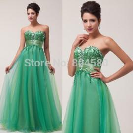 Stock Strapless Off-Shoulder Long woman dance dress Elegant Design Evening dresses Cheap Prom Party Gown CL6063 (AL12)