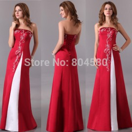 Strapless Floor Length Print Celebrity Dresses Sexy Red Carpet dress Long Evening Party Gown CL3132