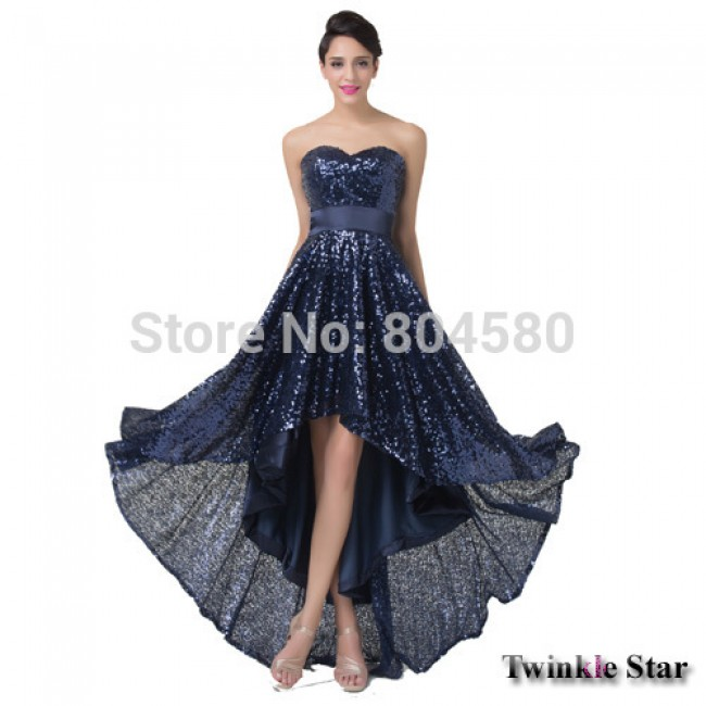 Fancy Asymmetrical Short Front Long Back Women Vintage Pageant Prom Dresses Sleeveless Formal Evening Gown dress CL6240