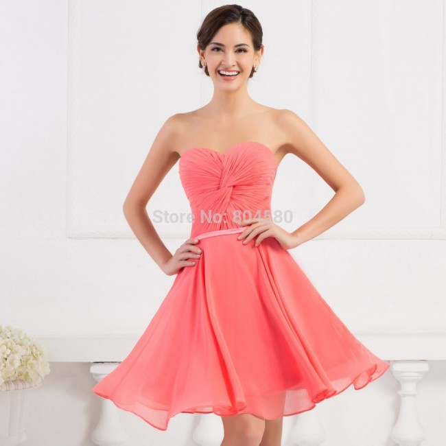 Fashion Short Chiffon Evening Prom dress Formal Party Ball dresses Women Spring Pageant Gowns CL6297