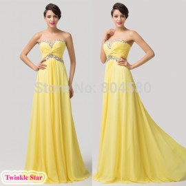 Sweetheart Summer Chiffon Maxi evening Dress Floor Length Long Formal Prom dresses Sexy Party Gown Ball CL6118
