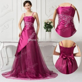 2015 Spring Strap Wine Red Prom Dress Ball Gown Vintage Wedding Party Dresses Floor Length Quinceanera Gowns D7516