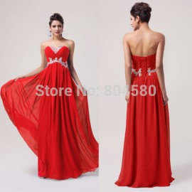 2015 Stock New Beautiful Sleeveless Beading Red Carpet dresses Formal Evening party Gown long Prom dresses Blue Purple CL6003