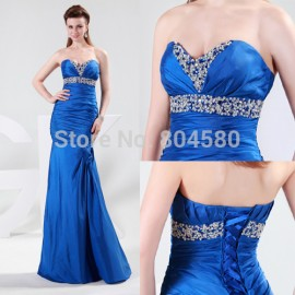 Actual Images Grace Karin Strapless Sleeveless Floor Length Fashion Evening Party dresses Long Mermaid Prom Dress  CL4467