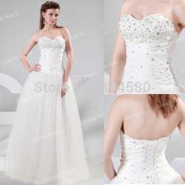 Beautiful Design Strapless Floor Length Beaded Long Ball Gown Girl's Quinceanera dresses Party Gowns Fashion Prom dress CL4449