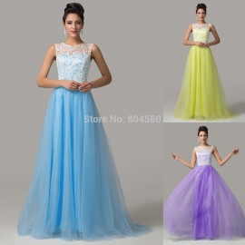 Beautiful Lace Design Mint Blue Black Evening Party Dress Floor Length Open Back Prom dresses 2015 Long Women Formal Gown CL6108