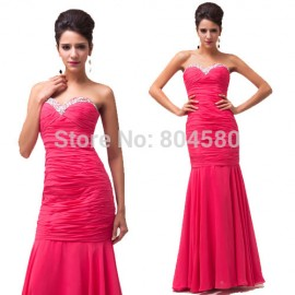 Cheap Price Women Sweetheart Slim-Line Long Bandage dress Formal Evening Gown Mermaid Prom dresses  Dinner Party Ball 6060