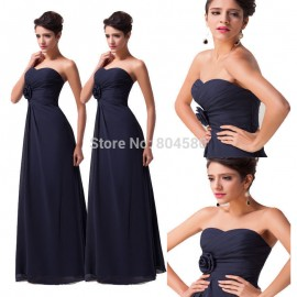 Dark Navy Sexy Sleeveless Summer Maxi Long Prom Dress Party Homecoming Ball Evening dresses Floor Length Formal Gowns 3442