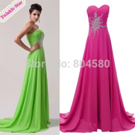 DeliveryGrace Karin Stock Strapless Chiffon Evening dresses Long Celebrity Prom Gown Red Carpet Party Dresses Greed CL4505