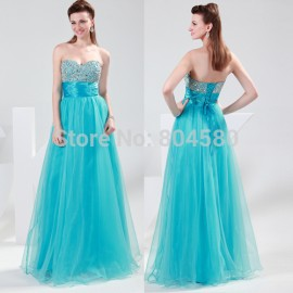 s/lot Grace Karin Sexy Strapless Sweetheart Beaded Sequins Long Party Gown Prom Ball Evening Dress 8Size CL4011