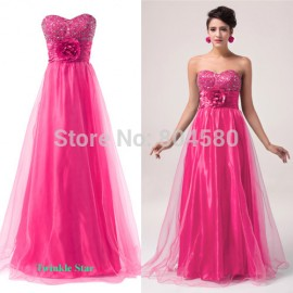 Organza Sweetheart Sleeveless Long Celebrity Party Gown Formal Evening dresses CL6039