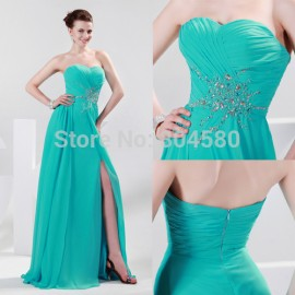 Bandage Dress Sexy Elegant Strapless Sweetheart Prom Party Gown Blue Celebrity Evening Dresses  CL4412