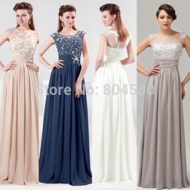 Stock Chiffon Floor-Length Women Celebrity dresses Party Evening Prom Dresses  8 Size US 2~16 CL4473