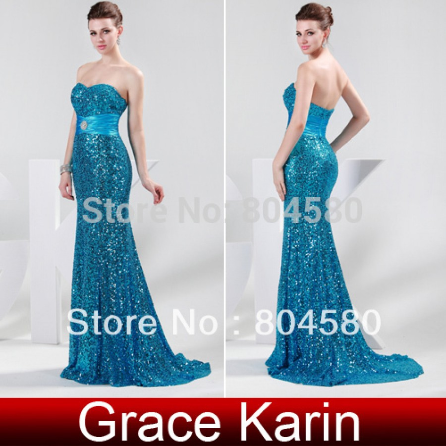 Strapless Floor Length Bodycon Bandage Evening Dress Mermaid Prom ...