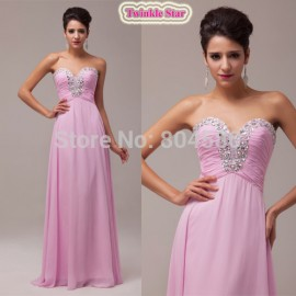 s/lot  Floor Length Sexy Beaded Bridesmaid Dresses Party gown Formal Prom Chiffon Dress CL6055