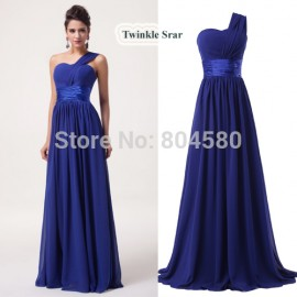 Grace Karin Stock One Shoulder Chiffon Prom Gown Formal Party Dresses Long Evening Dress CL6022