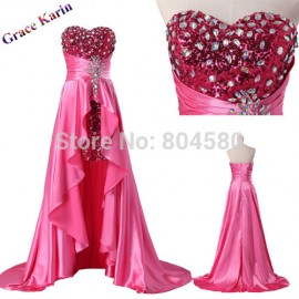 Sweetheart Evening Dress Short Front Long Back Formal Gown Elegant beading Prom Party Dresses Long  CL6012